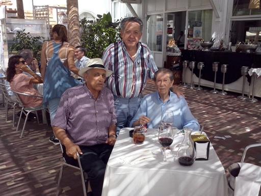 Con Manolo y Adolfo